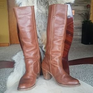 Vintage high shaft leather boots